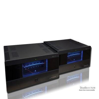 Eam Lab Studio A-70M sono una coppia di finali di potenza monofonici fronte