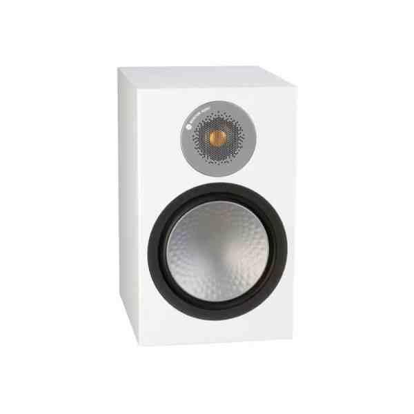 Monitor Audio Silver 100 6G è un diffusore da stand bianco aperto
