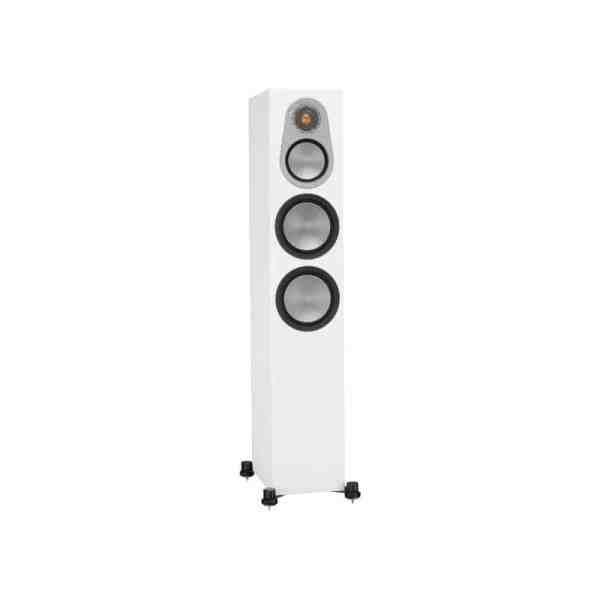 Monitor Audio Silver 300 6G è un diffusore da pavimento bianco aperto