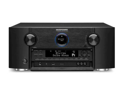Marantz SR7015 è un sintoamplificatore audio/video nero aperto