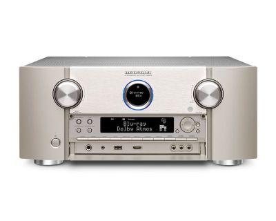 Marantz SR 8015 è un sintoamplificatore audio/video silver aperto