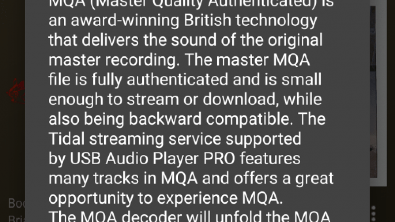 USB Audio Player PRO Adds MQA Support – HI-FI Trends