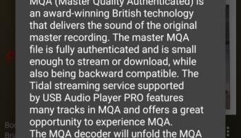 Portable Hi-Res: MQA Streaming With Tidal Masters On the LG V30