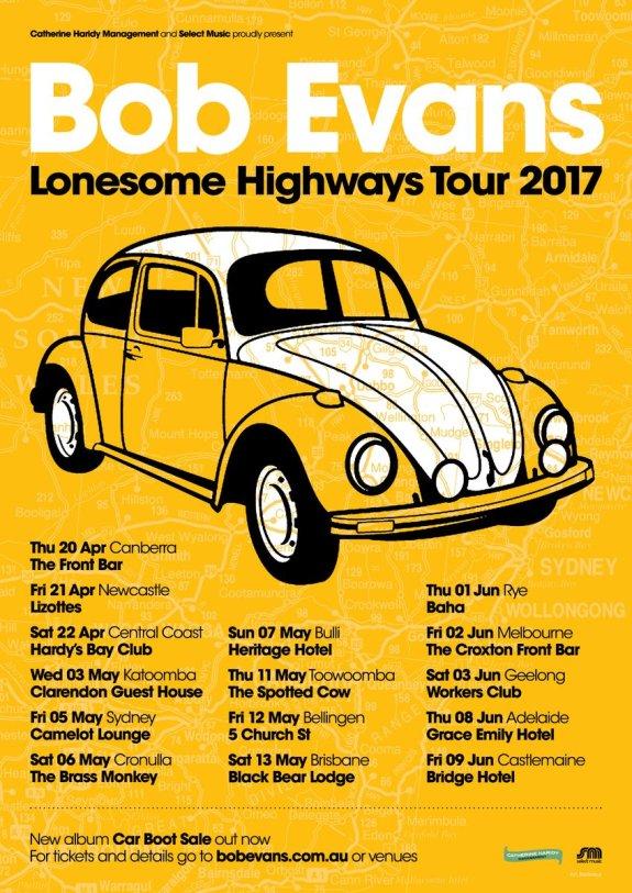 Bob Evans Tour Poster