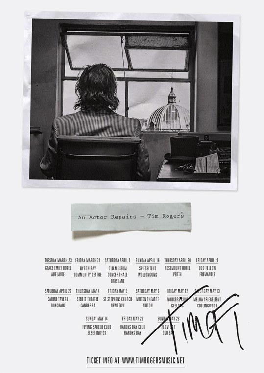 Tim Rogers Tour Poster