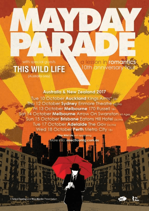 Mayday Parade Tour Poster