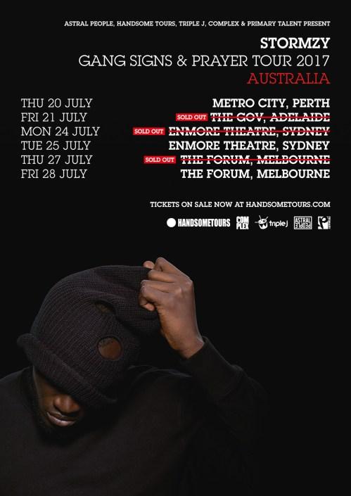 Stormzy Australian Tour Poster