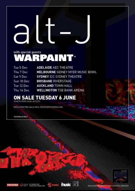 alt-J Tour Poster