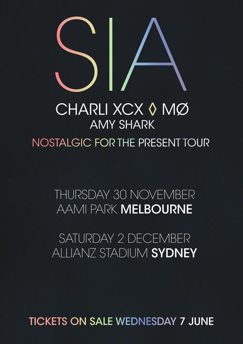 Sia Tour Poster