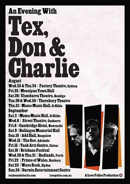 Tex Don Charlie Tour Poster