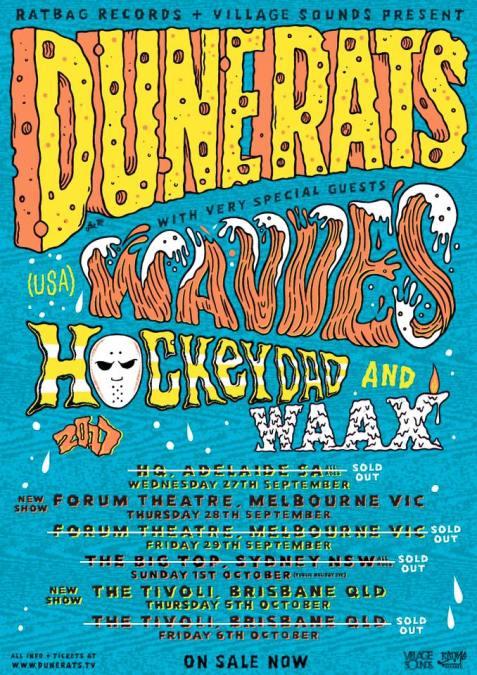 Dune Rats Australian Tour Poster
