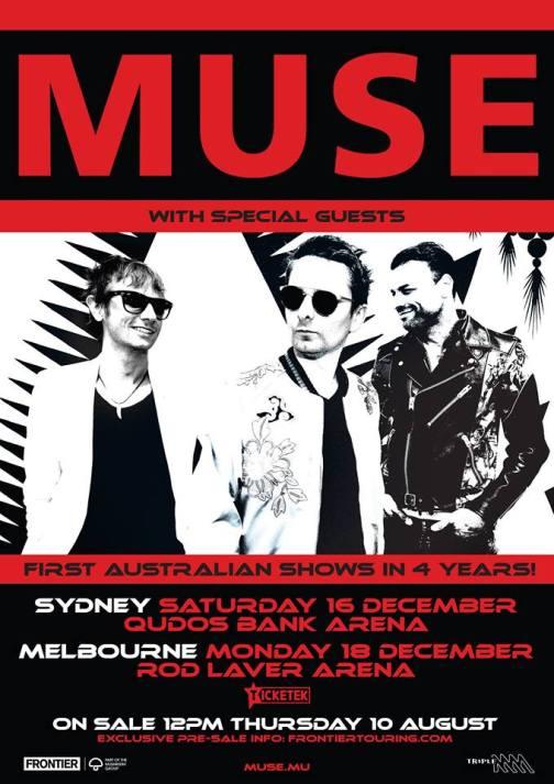 Muse Australian Tour Poster