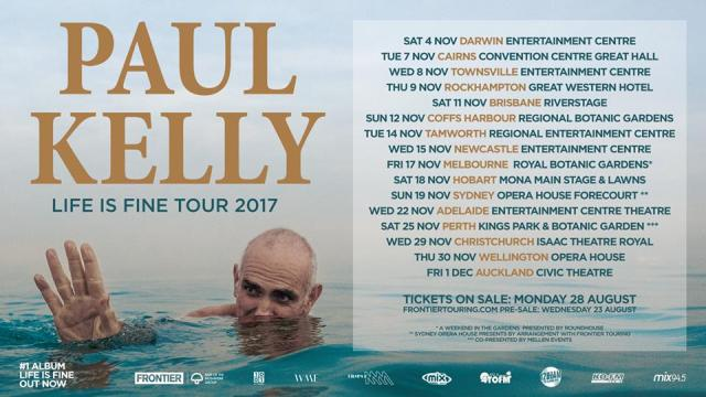 Paul Kelly Tour Poster