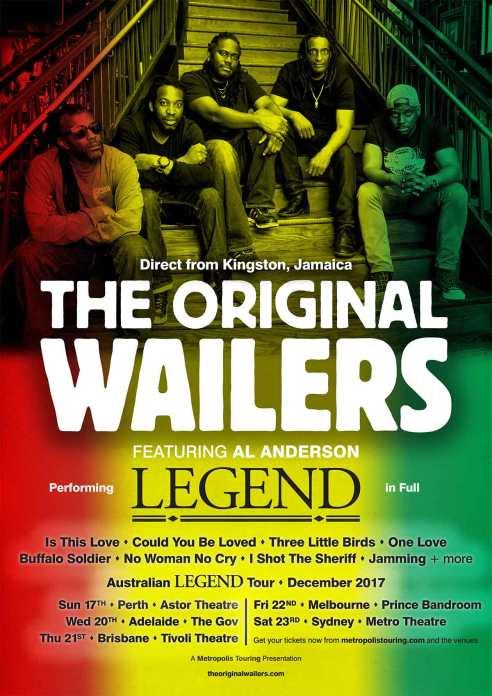 The Original Wailers Tour Poster
