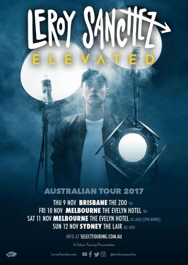 Leroy Sanchez Australian Tour Poster