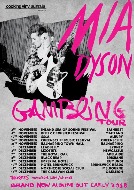 Mia Dyson Tour Poster