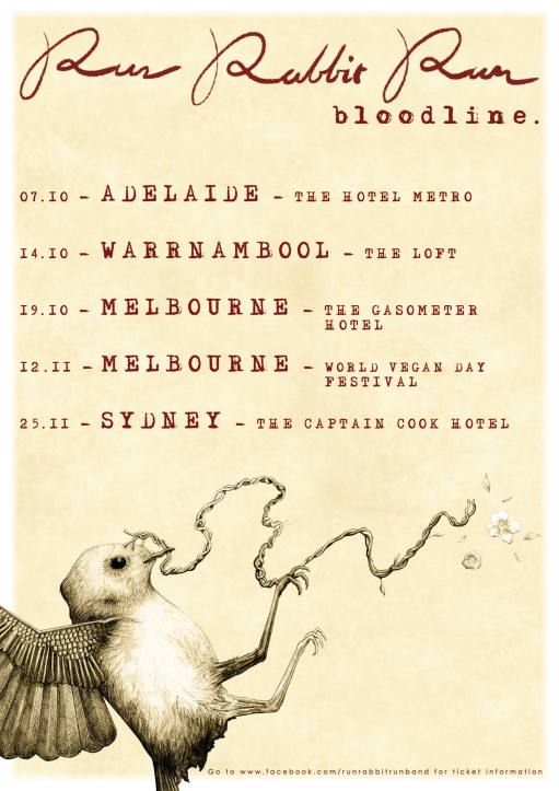 Run Rabbit Run Tour Poster