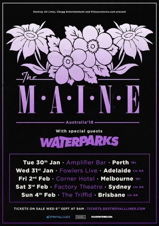 The Maine Australian Tour Poster
