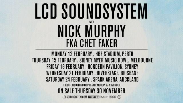 LCD Soundsystem Tour Banner