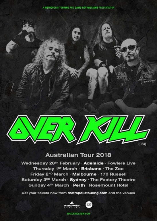 Overkill Tour Poster
