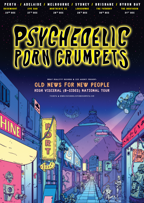 Psychedelic Porn Crumpets Australian Tour Poster