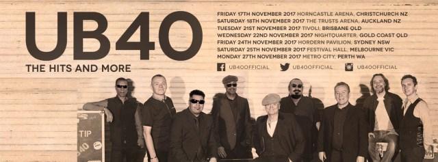UB40 Tour Banner