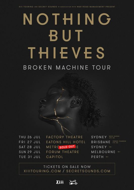 Nothing But Thieves Tour Poster Updated