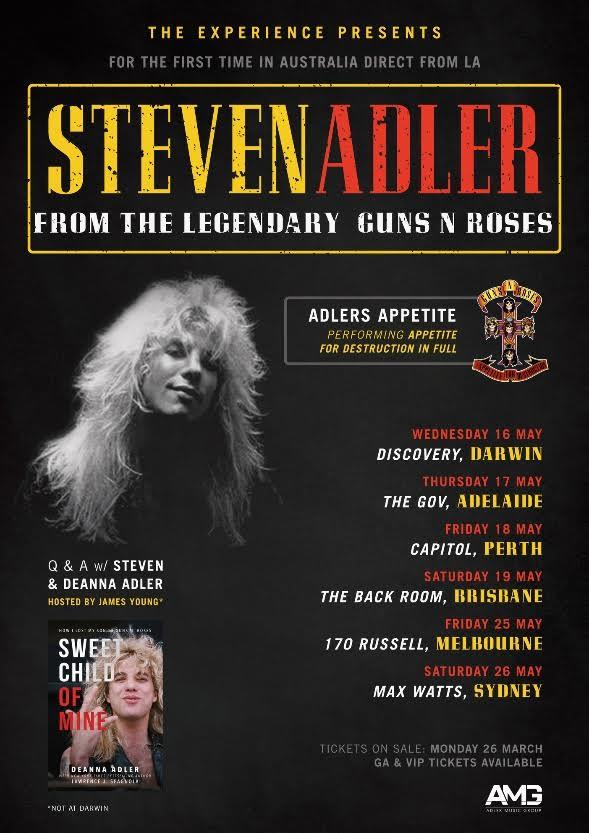 Steven Adler Tour Poster