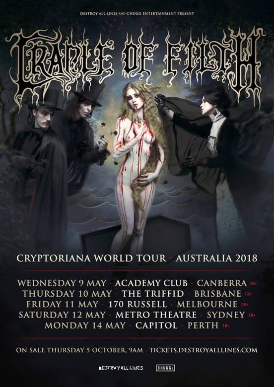 Cradle Of Filth Tour Poster