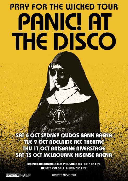 Panic At The Disco Tour Poster
