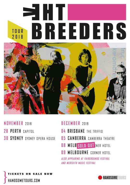 The Breeders Tour Poster
