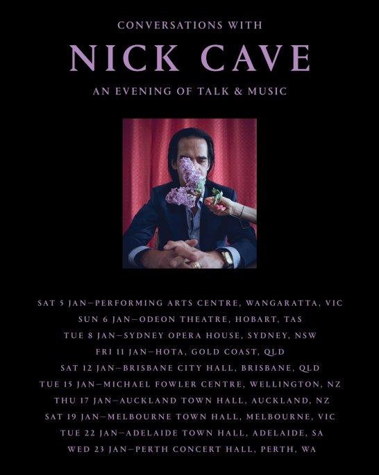 Nick Cave Tour Poster