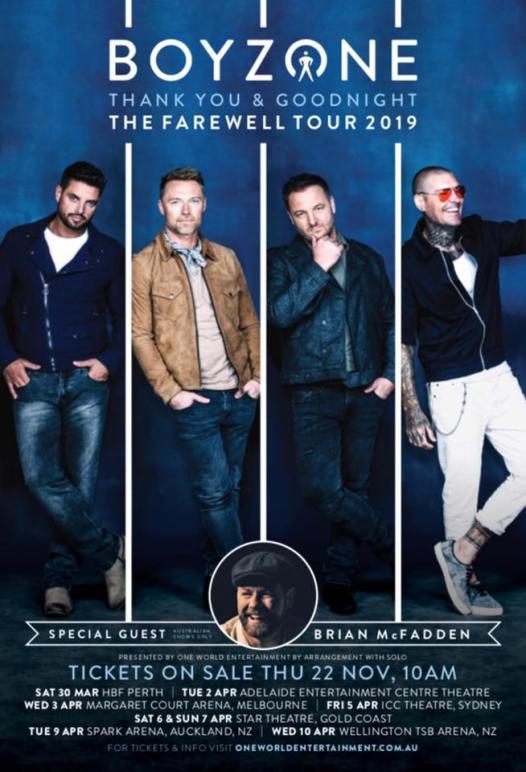 Boyzone Tour Poster