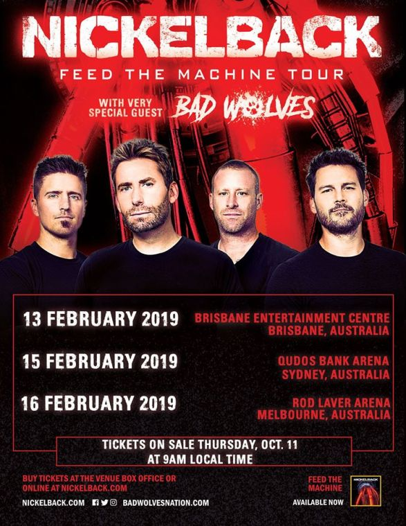 Nickelback Australian Tour Poster
