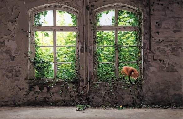 The Visitor - Josh Keyes - Hi Fructose Image