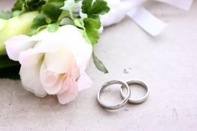 ブートニアと指輪