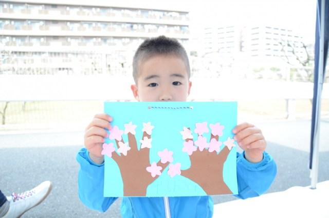 桜クラフト完成