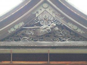 金剛峰寺の龍の彫刻