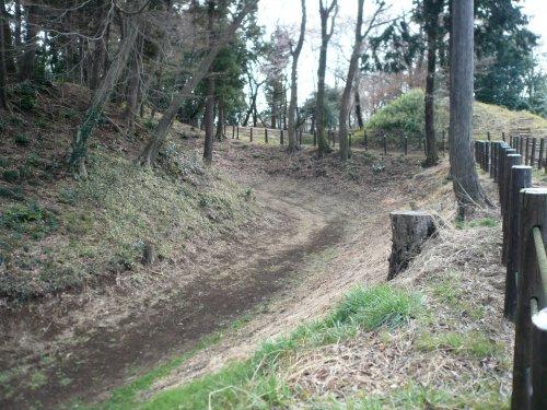 滝の城址公園 空堀