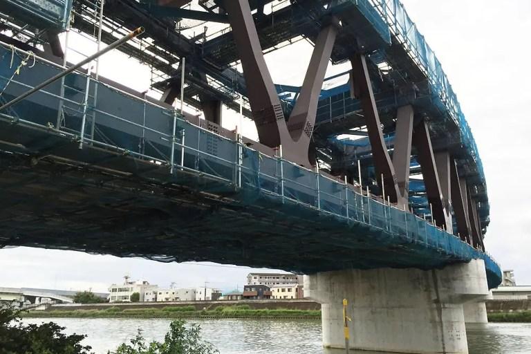 おおさか東線 神崎川 鉄橋