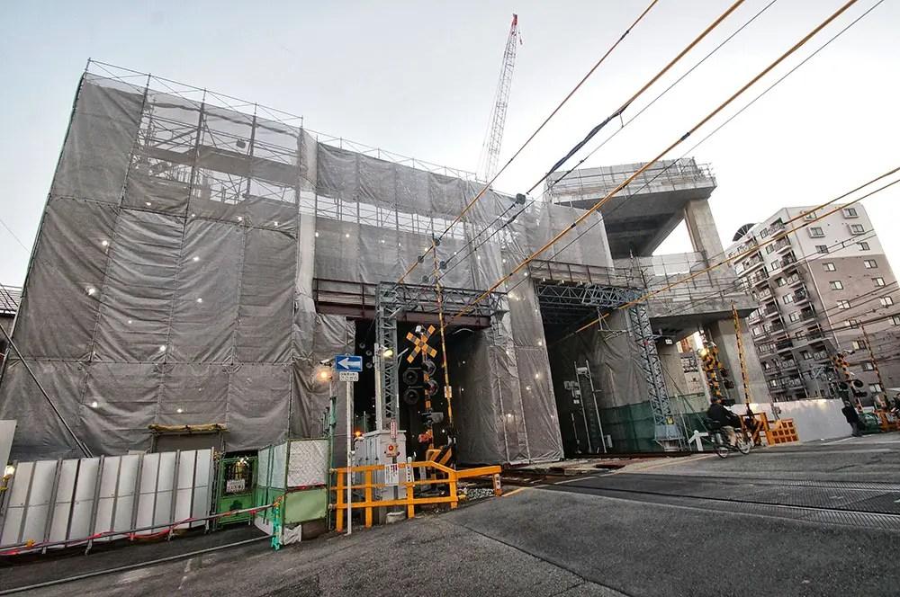 阪急 淡路 高架 工事