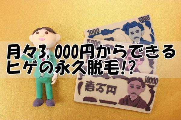 月々3000円から本格的なヒゲの永久脱毛ができる