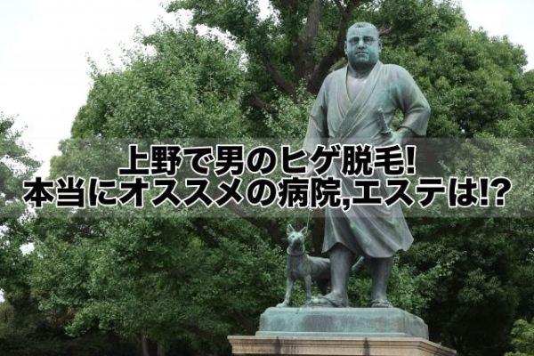 上野で男のヒゲ脱毛!本当にオススメの病院,クリニック,エステは!?