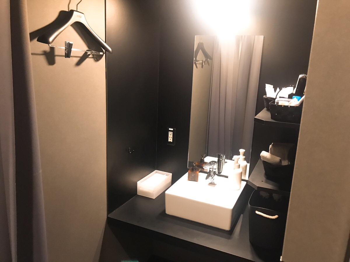 身だしなみを整える洗面所:ゴリラクリニックヒゲ脱毛12回目渋谷院