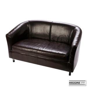 2 Seater Tub Sofa Brown