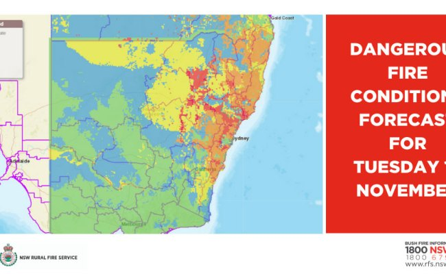 Nsw Dangerous Fire Conditions Forecast For Tuesday 12