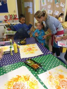 Reception paint Sunflowers by Van Gogh - June 2015[1]