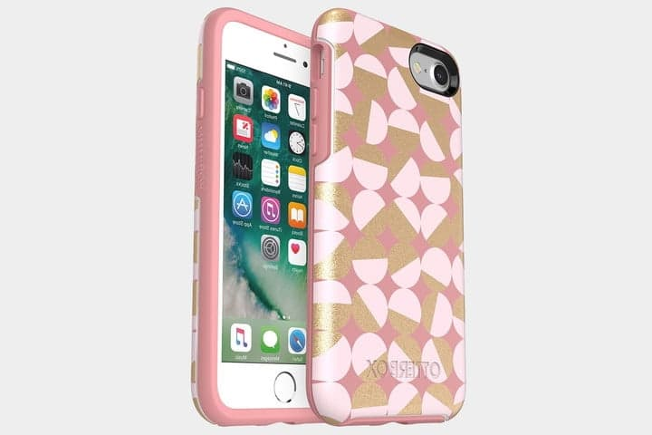 coque rose iphone 8