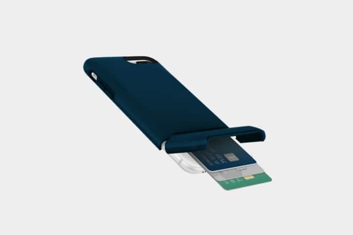 coque porte-carte iphone 8 plus bleue