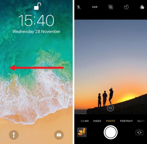 iphone x page d'accueille et photo